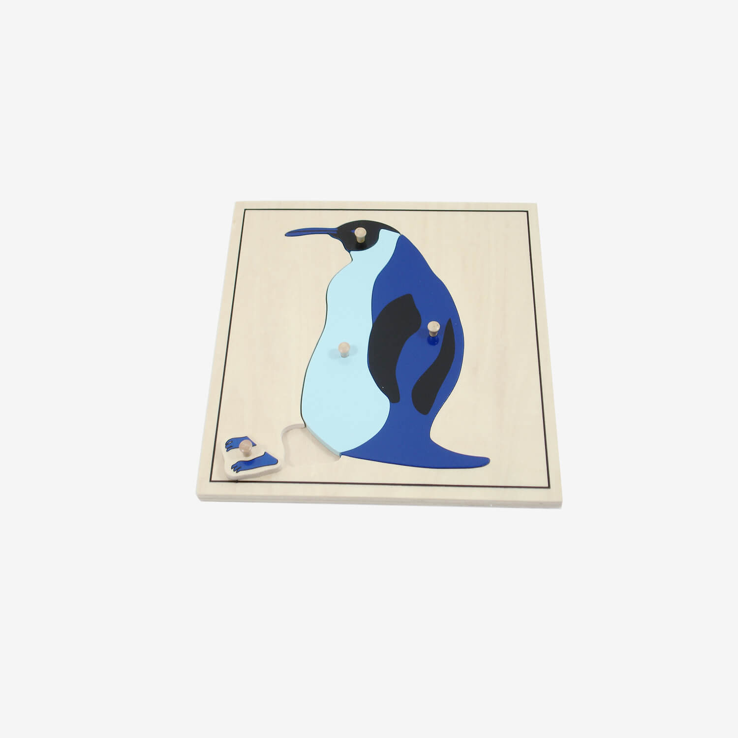 Animal Puzzle: Penguin(plastic knob)