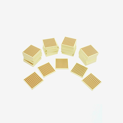 Wooden Square Of 100: Set Of 45