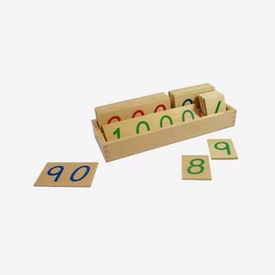 Wooden Number Cards: Large 1-1000